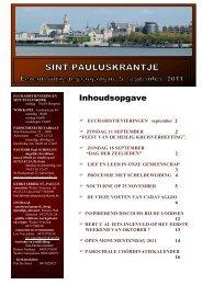 editie september 2011 - Sint-Paulusparochie Antwerpen