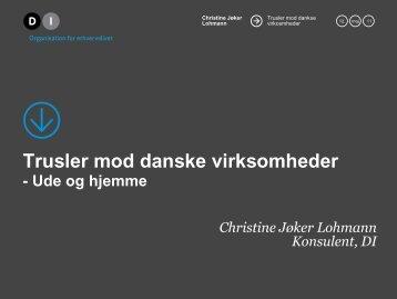 Trusler mod danske virksomheder - VIDA