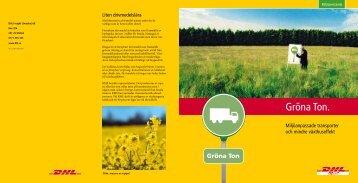 Information om gröna ton - DHL