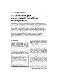 Myt och verklighet om de svenska hushållens förmögenheter