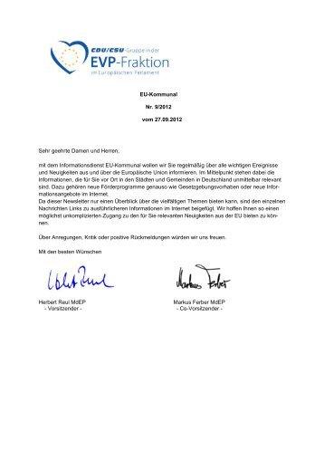 EU-Kommunal Nr. 9/2012 vom 27.09.2012 Sehr geehrte Damen ...
