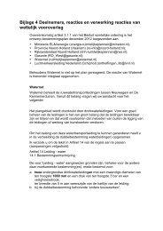 Bijlage 4 Deelnemers, reacties en verwerking reacties van wettelijk ...