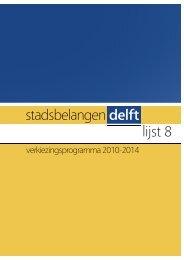 Eén in kleur - Stadsbelangen Delft