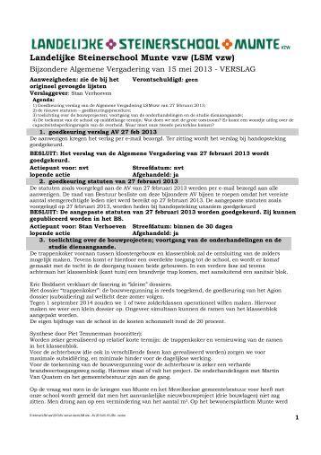 Landelijke Steinerschool Munte vzw (LSM vzw)
