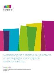 Subsidiëring van sociale verhuurkantoren en verenigingen voor ...