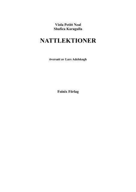 Nattlektioner [original: Through the Curtain] - Livskunskap