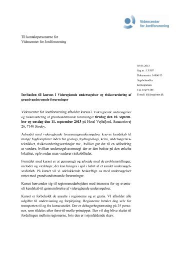 ARF mail - dansk - Videncenter for Jordforurening