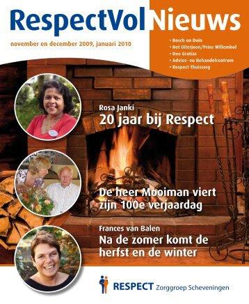 RespectVol Nieuws - RESPECT Zorggroep Scheveningen