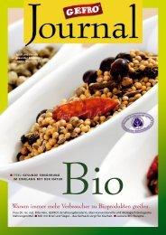 GEFRO Journal 16 - Warum immer mehr Verbraucher zu Bioprodukten greifen.