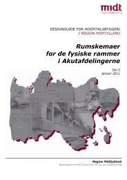 Rumskemaer for de fysiske rammer i Akutafdelingerne - Region ...
