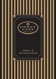 MENU & DRIKKEVARER - Penny Lane Café