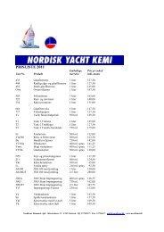 PRISLISTE 2011 - nordkemi danmark aps
