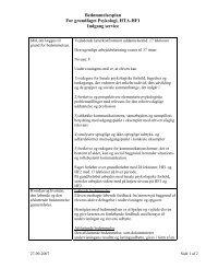 Psykologi HF1 2009-07 - Dokumenter