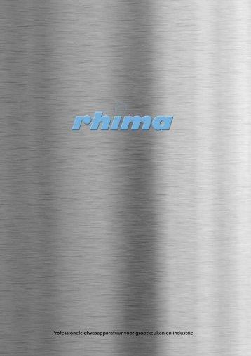 Rhima Catalogus - Rhima - RHIMA bedrijfsvaatwasmachines