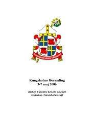 Program för biskopsvisitation i Kungsholms ... - Stockholms stift