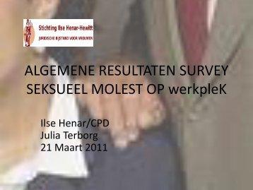Presentatie J. Terborg, data analyse seksueel molest op de werkplek