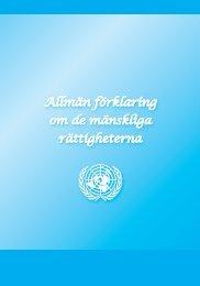 Allmän förklaring om de mänskliga rättigheterna - Svenska FN ...