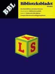 Ladda hem som pdf - Biblioteksbladet