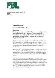 Information om kontrollplan - och bygglag