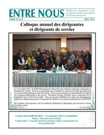 Hiver 2013 - Société des enseignantes et des enseignants retraités ...