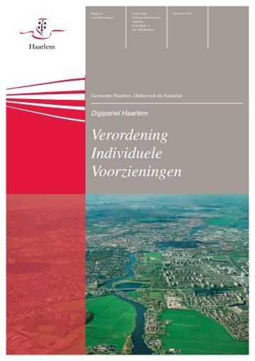 Verordening Individuele Voorzieningen - Gemeente Haarlem