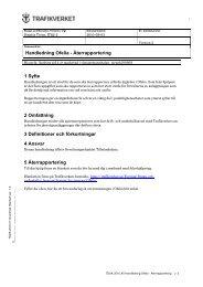 Handledning Ofelia - Återrapportering 1 Syfte 2 ... - Banportalen