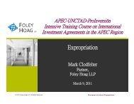 indirect expropriation. - Proinversión