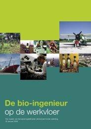 De bio-ingenieur op de werkvloer - Toegepaste Biologische ...