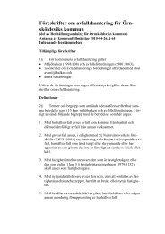 Föreskrifter om avfallshantering för Örnsköldsviks kommun