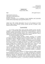 NORAKSTS Lieta Nr.142063010 1-0095-12/11 SPRIEDUMS ...
