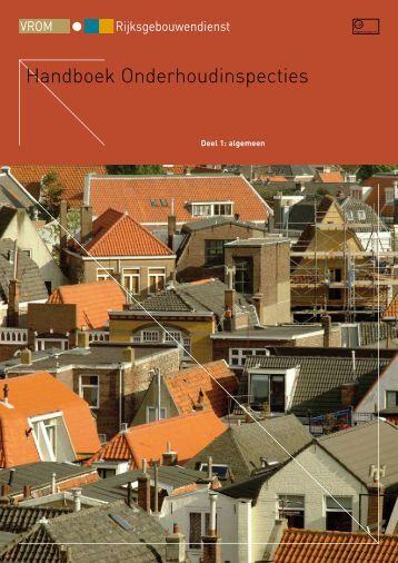 Handboek Onderhoudinspecties - Rijksgebouwendienst