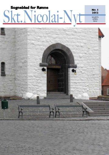 Sogneblad for Rønne - Sct. Nicolai Kirke