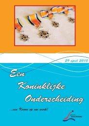 Boekje Koninklijke Onderscheidingen 2010 - Gemeente Den Helder