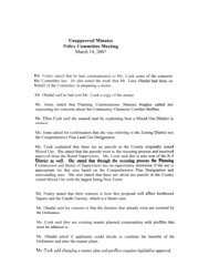 unapproved minutes from 3/14/07 Policy Committee meeting