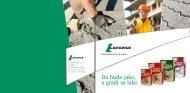 Priručnik za upotrebu pakovanog cementa - LAFARGE-BFC