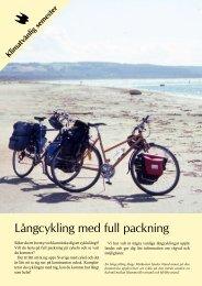 Broschyr långcykling - Naturskyddsföreningen