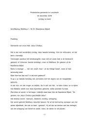 -1- Protestantse gemeente te Loosdrecht 26 december 2010 zondag ...