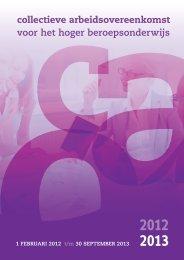 Cao-hbo 2012-2013 - Vereniging Hogescholen