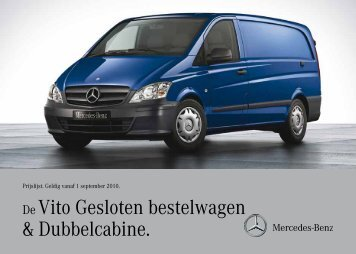De Vito Gesloten bestelwagen & Dubbelcabine.