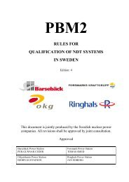 Rules for qualification of NDT systems in Sweden (PDF ... - Vattenfall