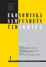 Nummer 1/2007 - Ekonomiska Samfundets tidsskrift