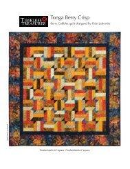 Tonga Berry Crisp - Batiks Etcetera & Sew What Fabrics