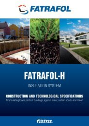 Construction and technological instructions Fatrafol-H