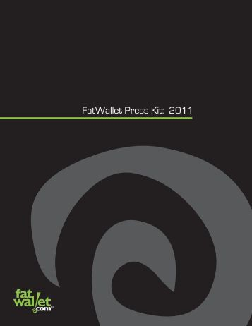 FatWallet Press Kit: 2011