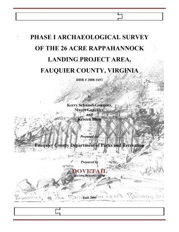 Phase I Archaeological Survey of the 26 Acre - Fauquier County