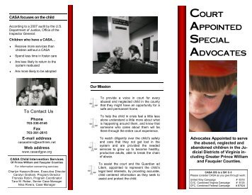 Court Appointed Special Advocates (CASA) - Fauquier County