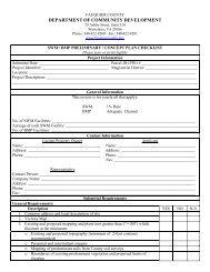 Preliminary SWM/BMP Checklist - Fauquier County