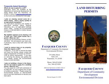 LAND DISTURBING PERMITS - Fauquier County