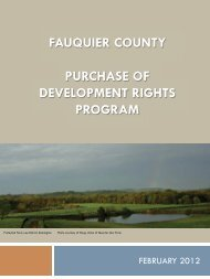 PDR Program Qualifications - Fauquier County