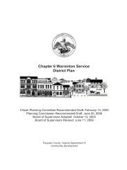Chapter 6 Warrenton Service District Plan - Fauquier County